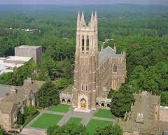 Duke University chapel bell tower
